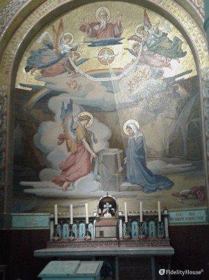 Mosaico dell'Annunciazione – Basilica del Rosario Lourdes