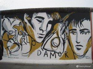 Il muro di Berlino dipinto da Ignasi Blanch