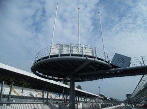 Il podio dell'autodromo di Monza