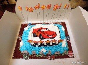Torta di compleanno a tema Cars