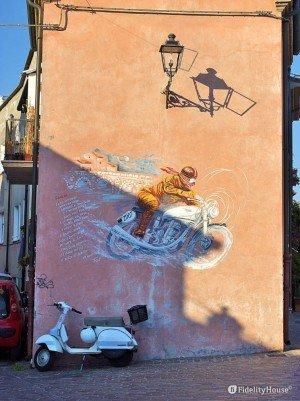 Una Vespa a Borgo San Giuliano – Rimini