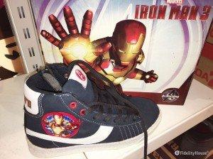 Scarpe da ginnastica da bambino blu con Iron Man