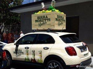 Sponsor Birra Moretti nella Carovana del Giro d'Italia 2016
