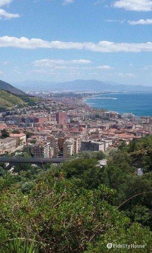 Veduta di Salerno dall'alto