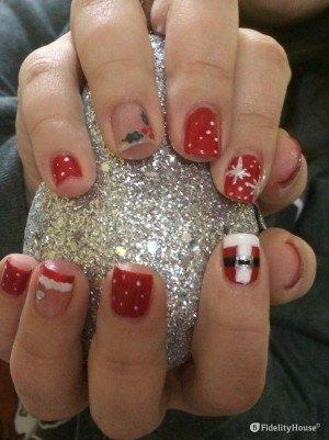 Ricordi di nail art natalizie