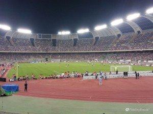 Italia e Francia in campo allo stadio San Nicola di Bari