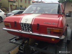 Particolare di una Opel Ascona
