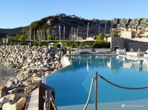 La piscina di Portopiccolo, a Sistiana (TS)