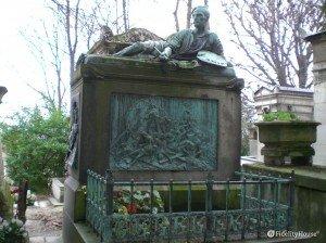Tomba del pittore Théodore Géricault nel cimitero di Père-Lachaise, Parigi