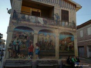 Murales realistico a Sedini, provincia di Sassari