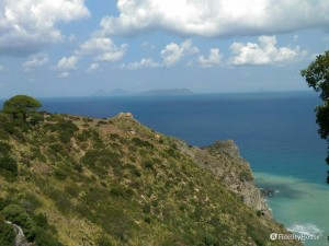 Le isole Eolie viste da Tindari