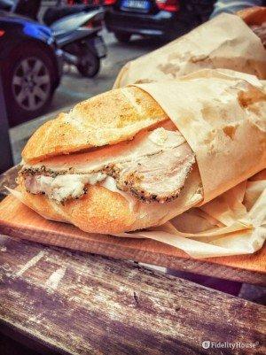 Street Food a Roma: il panino con la porchetta