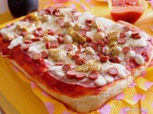 Pizza capricciosa, alta e soffice