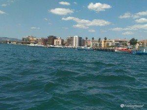 Augusta vista dal mare