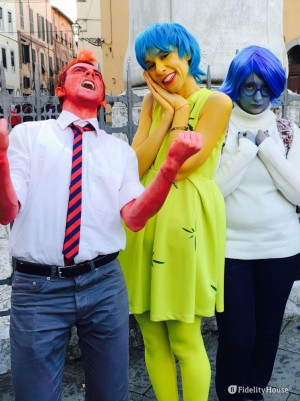 Cosplayers di Inside Out al Lucca Comics and Games 2015