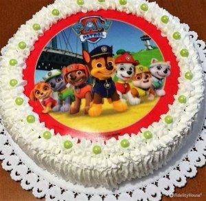 Paw patrol sulla torta