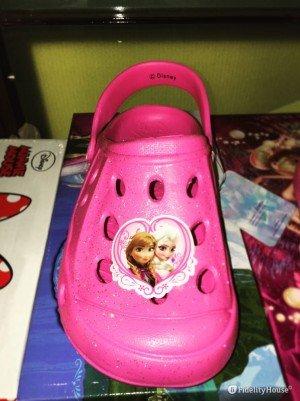 Scarpe estive da bambina rosa con Anna ed Elsa di Frozen stile crocs