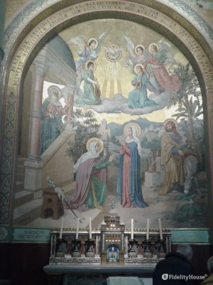 Mosaico: Maria ed Elisabetta – Basilica del Rosario Lourdes
