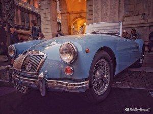 MG MK II: un'auto d'epoca inglese anni '50