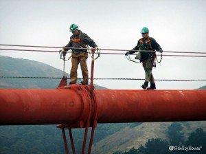 Manutenzione sul ponte di San Francisco