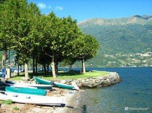 Il lungolago di Dervio, in provincia di Lecco