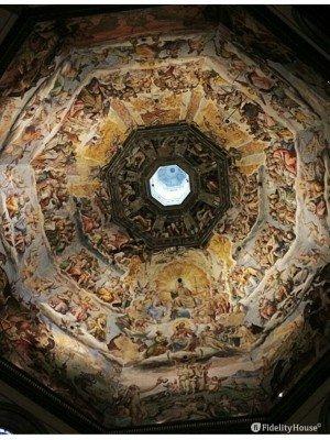 Affresco manierista all'interno della cupola del Brunelleschi