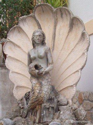 La fontana della sirena a Chianalea