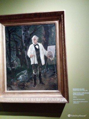 """""""Autoritratto nella foresta di Fontainebleu"""" (Giuseppe Palizzi)"""