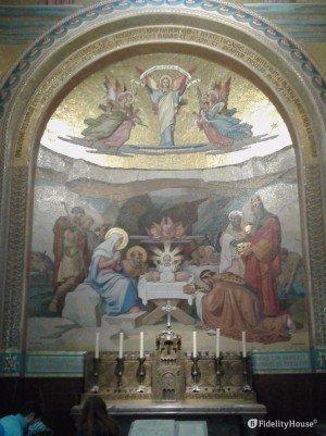 Mosaico della nascita di Gesù – Basilica del Rosario – Lourdes