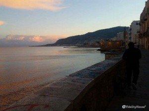 Una meravigliosa alba a Trapani