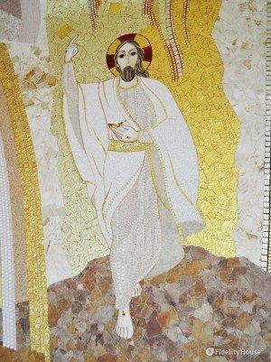Il Cristo risorto, mosaico di Marko Ivan Rupnik