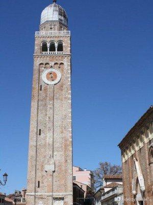 Il campanile del duomo di Chioggia