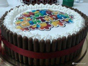 Torta di compleanno con togo