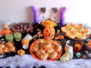 La nostra paurosa tavola per il buffet di Halloween