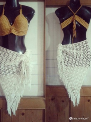 Costume con pareo handmade