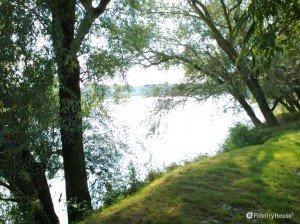 Il bellissimo fiume Po tra Piacenza e San Rocco al Porto