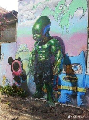 Street art: murale a Roma
