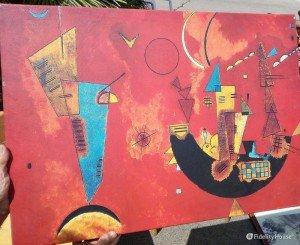 """""""Con e Contro"""", riproduzione dell'opera di Wassily Kandinsky"""