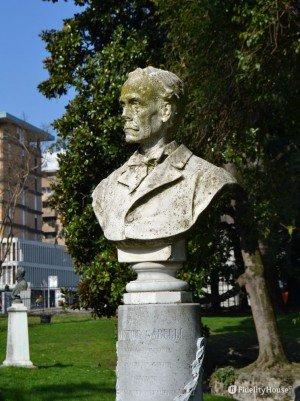 Aristide Gabelli ai giardini dell'Arena – Padova
