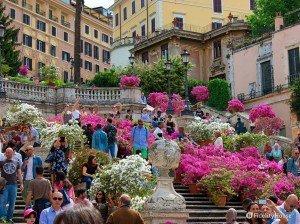 Scalinata di Trinità dei Monti in fiore, Roma