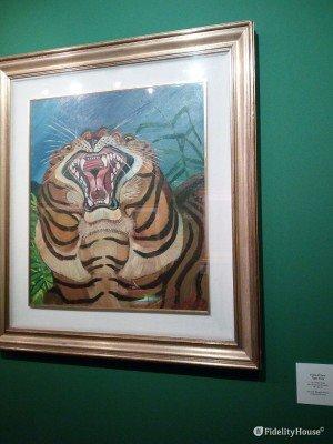"""""""Testa di Tigre"""", dipinto realizzato da Antonio Ligabue"""