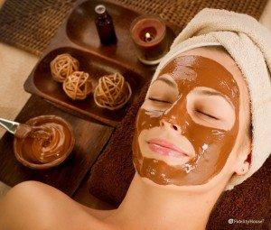 Maschera viso al cioccolato fai da te
