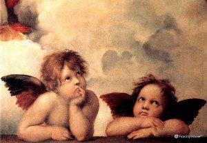 """I cherubini delle """"Madonna Sistina"""" di Raffaello"""