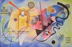 """""""Giallo, rosso e blu"""" di Kandinsky"""