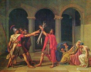 """""""Giuramento degli Orazi"""" di Jacques-Louis David"""
